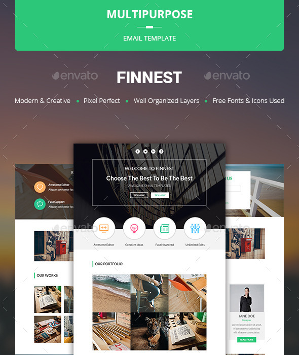 GraphicRiver Finnest Multipurpose Email Template 10678887