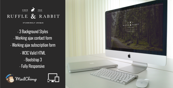 ThemeForest Rabbit Responsive Coming Soon 10678895