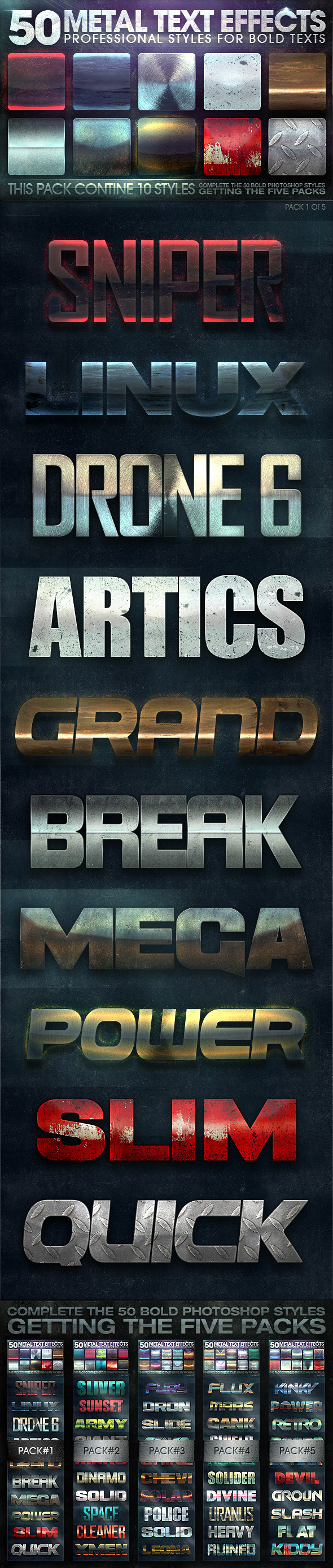 GraphicRiver 50 Metal Text Effects 1 of 5 10678899