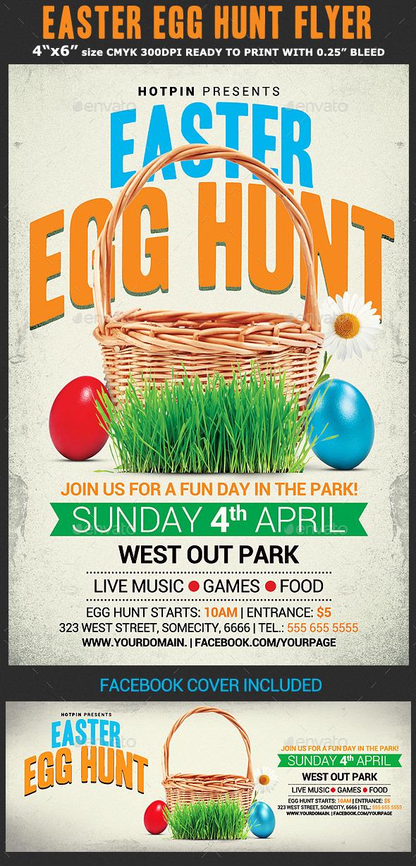 GraphicRiver Easter Egg Hunt Flyer Template 10678977