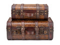 Two Old Suitcases Stacked - PhotoDune Item for Sale