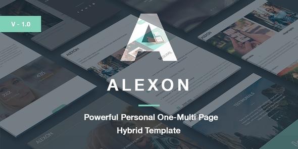 ThemeForest Alexon Personal One-Multi Page Hybrid Template 10652875
