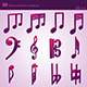 3D Musical Notes Symbols ( 55 pcs ) - 3DOcean Item for Sale