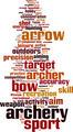 Archery Word Cloud Concept - PhotoDune Item for Sale
