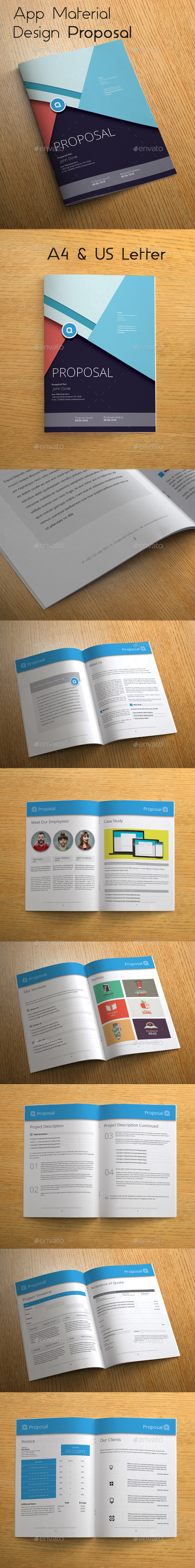 GraphicRiver App Material Design Proposal 10679453