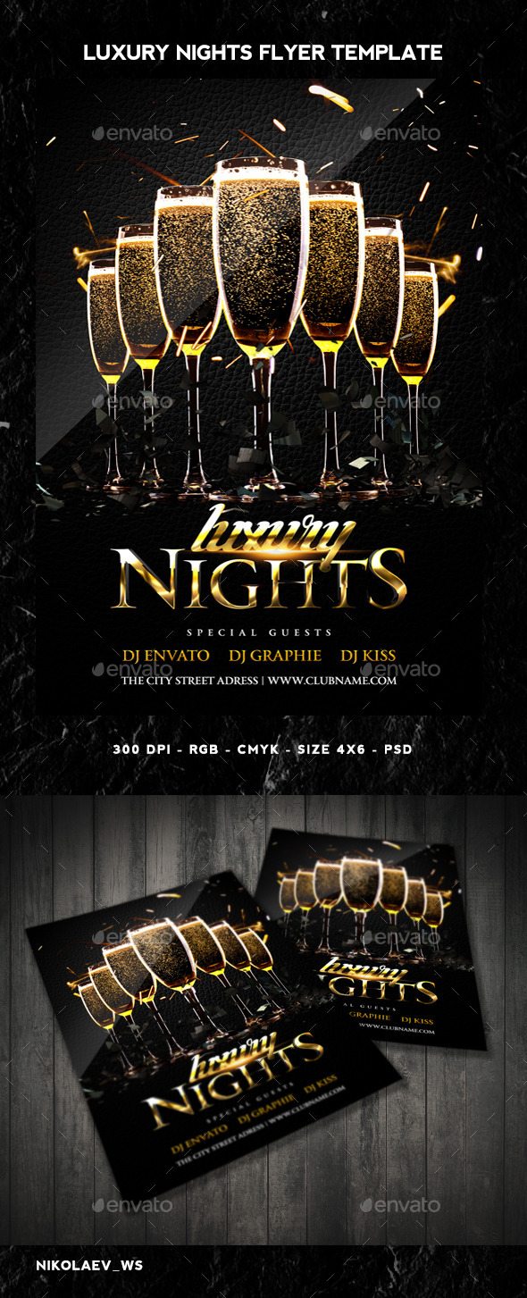 GraphicRiver Luxury Nights Flyer 10679514