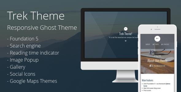 Trek: Responsive Ghost Theme - Ghost Themes Blogging