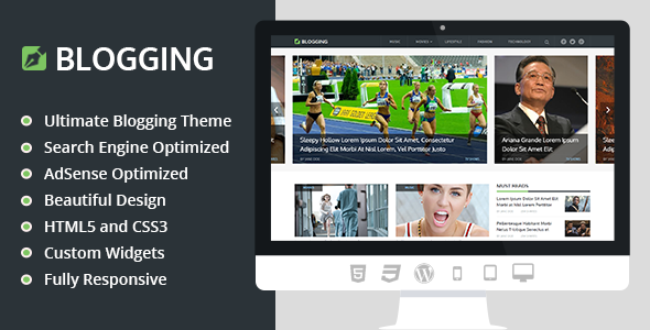 ThemeForest Blogging Beautiful & Responsive WordPress Theme 10646738