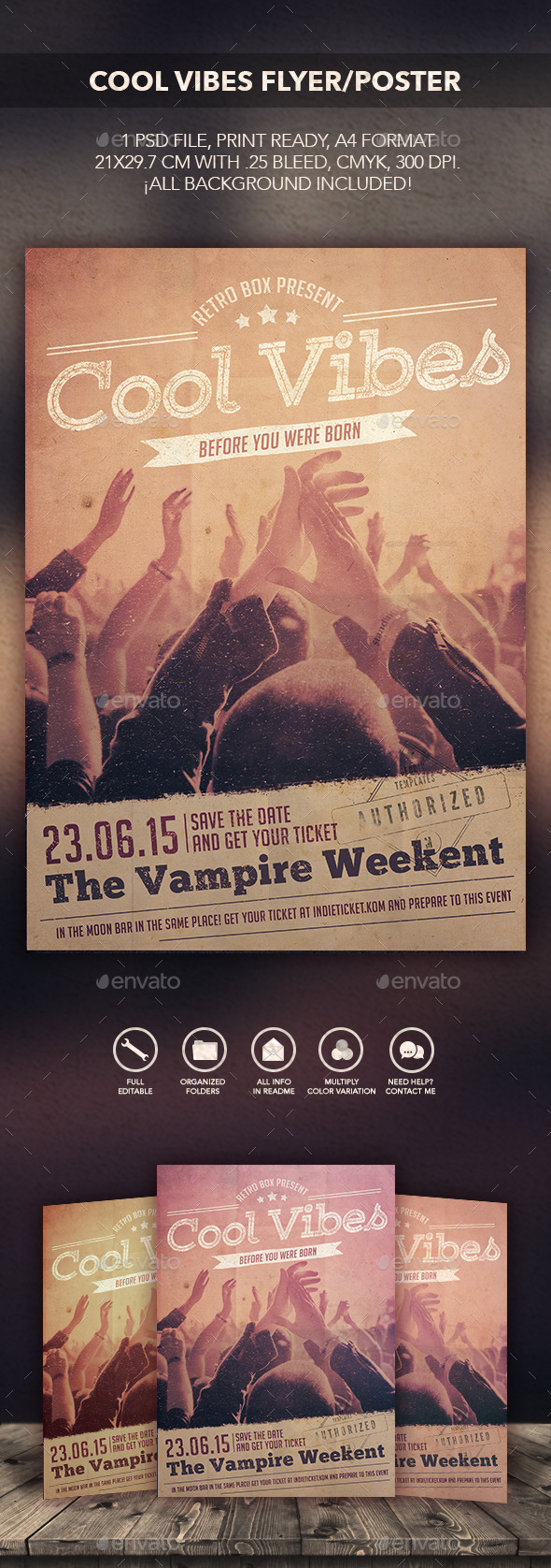 GraphicRiver Cool Vibes Flyer Poster 10679765