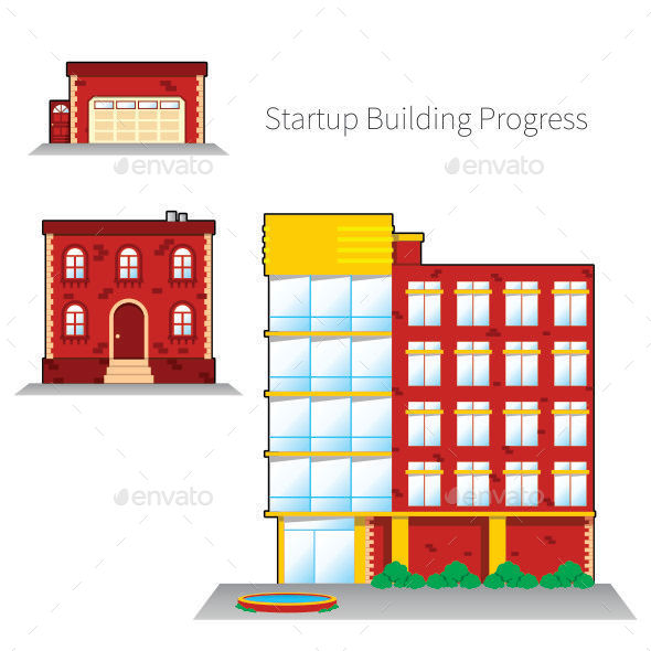 GraphicRiver Startup Building Progress 10679810