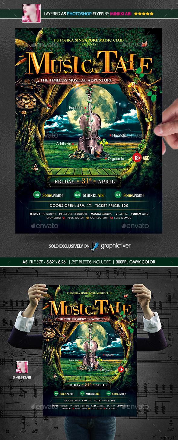 GraphicRiver Music Tale Poster Flyer 10679849