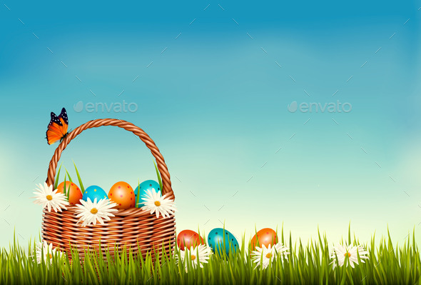 GraphicRiver Spring Easter Background 10679950