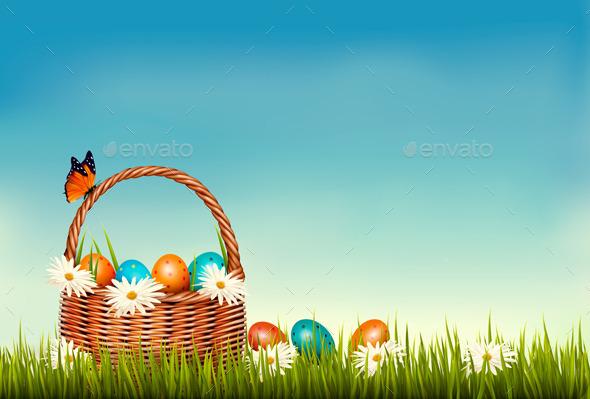 GraphicRiver Spring Easter Background 10679950