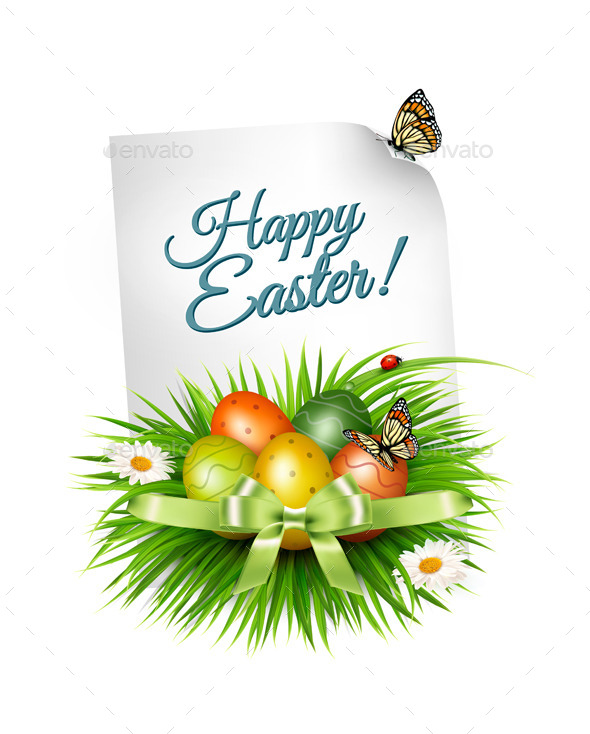 GraphicRiver Spring Easter Background 10679967