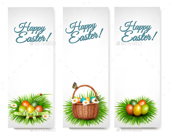 GraphicRiver Three Happy Easter Banners 10679972