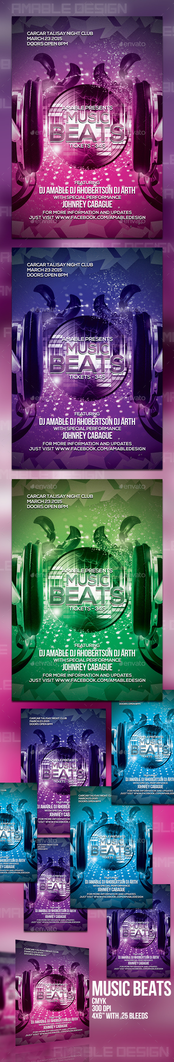 GraphicRiver Music Beats Flyer 10680029