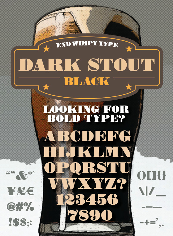 GraphicRiver Dark Stout Typeface 10680109