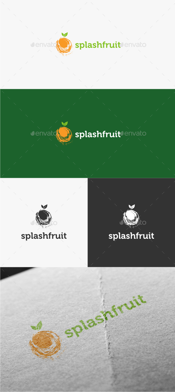 GraphicRiver Splash Fruit Logo Template 10680226