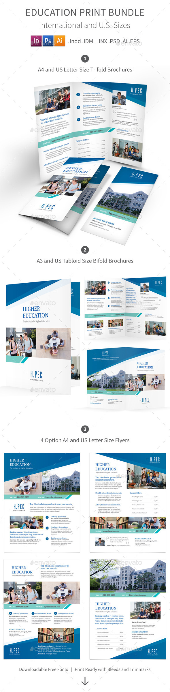 GraphicRiver Education Print Bundle 10680262