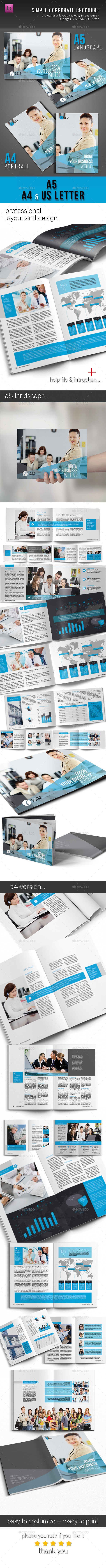 GraphicRiver Corportate & Business Brochure Template Design 10680364