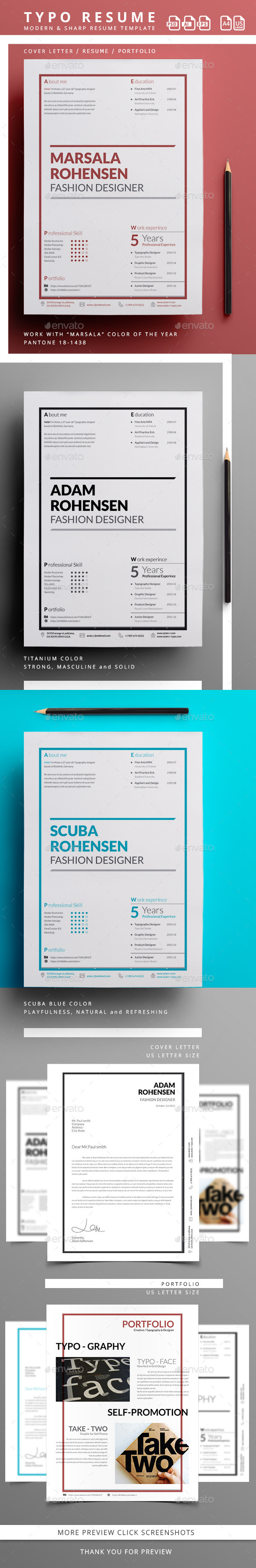 GraphicRiver Typo Resume 2 10591315