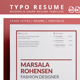 Typo Resume 2 - GraphicRiver Item for Sale