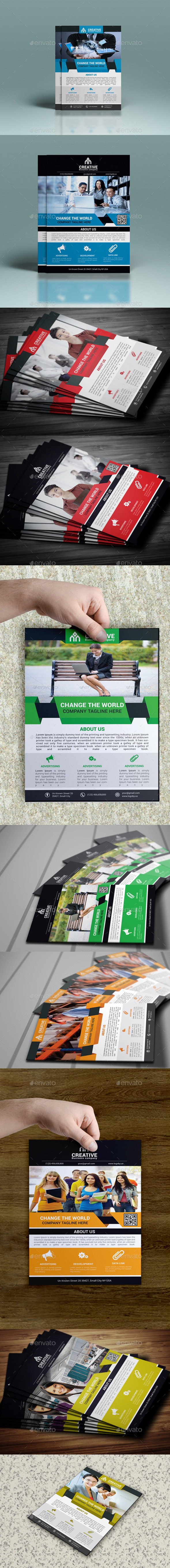 GraphicRiver Corporate Flyer Bundle 10680401