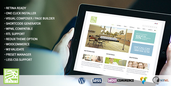 ThemeForest Decor Multipurpose WordPress Theme 10530749