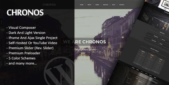 ThemeForest Chronos Parallax One Page WordPress Theme 10598053