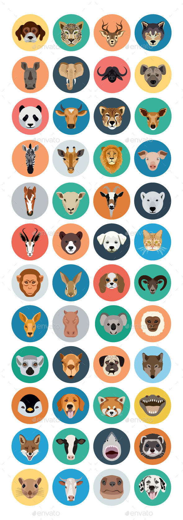 GraphicRiver 40& Animals Vector Icons 10680659