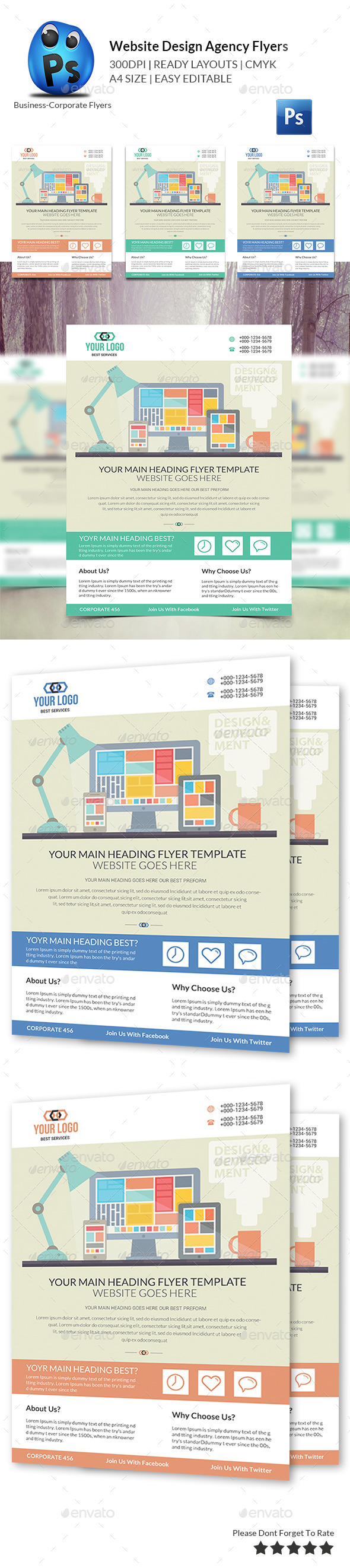 GraphicRiver Website Design Agency Flyer 10680713