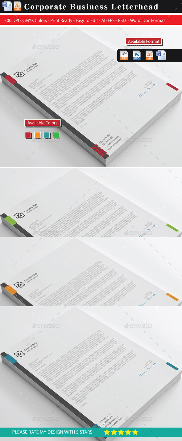 GraphicRiver Corporate Letterhead 10680752