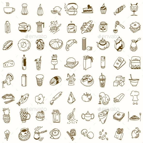 GraphicRiver Food Icons 10680852