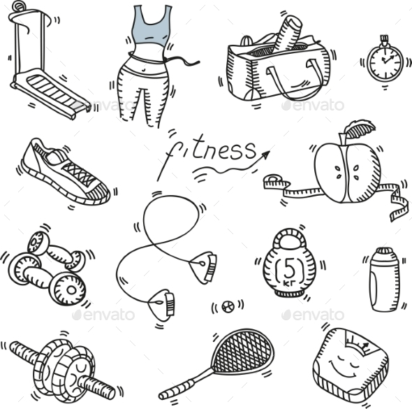 GraphicRiver Fitness and Sport Icons 10680860