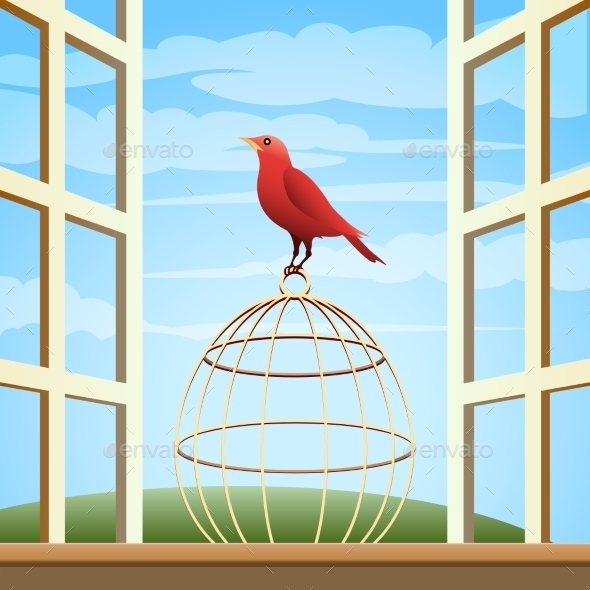 GraphicRiver Bird on a Cage 10681003