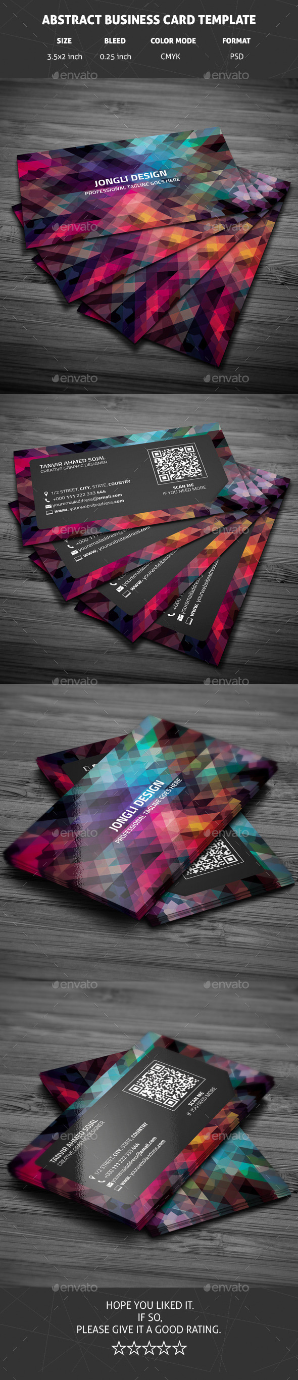 GraphicRiver Abstract Business Card Template 10681062
