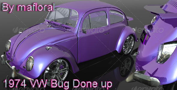 3DOcean 1974 VW Bug Done Up 133630