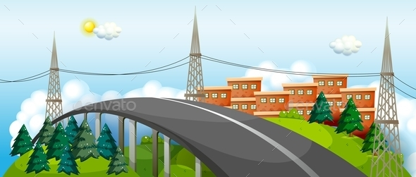 GraphicRiver A Curved City Road 10681180