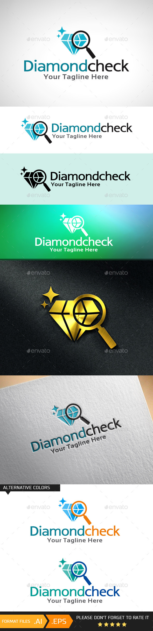 GraphicRiver Diamond Check Logo Template 10681419