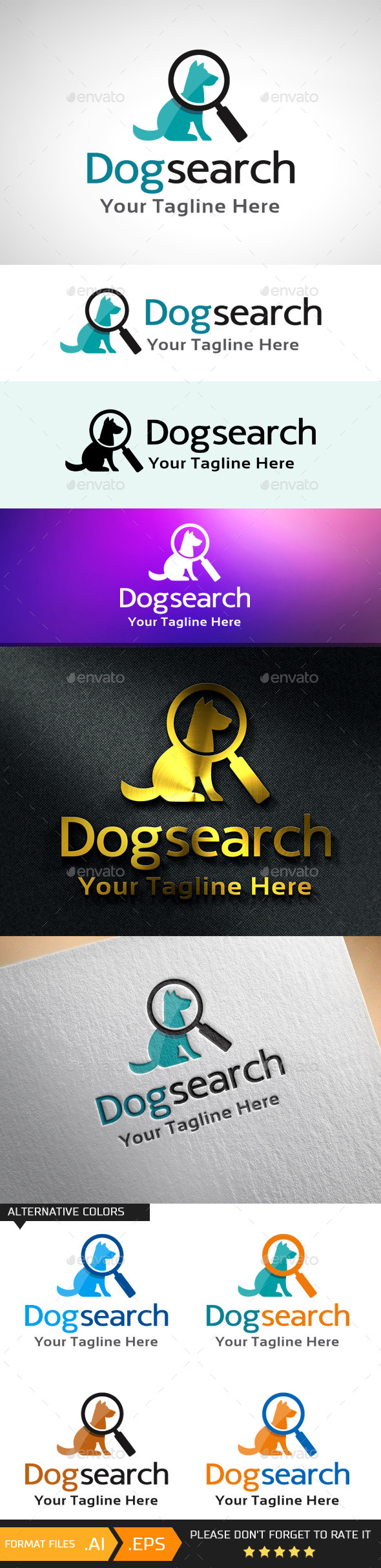 GraphicRiver Dog Search Logo Template 10681427
