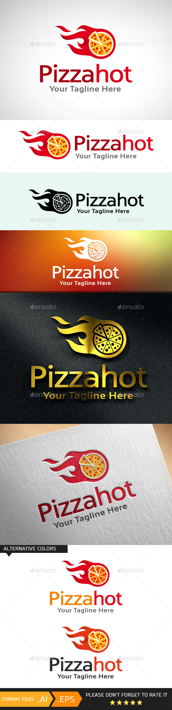 GraphicRiver Pizza Hot Logo Template 10681479