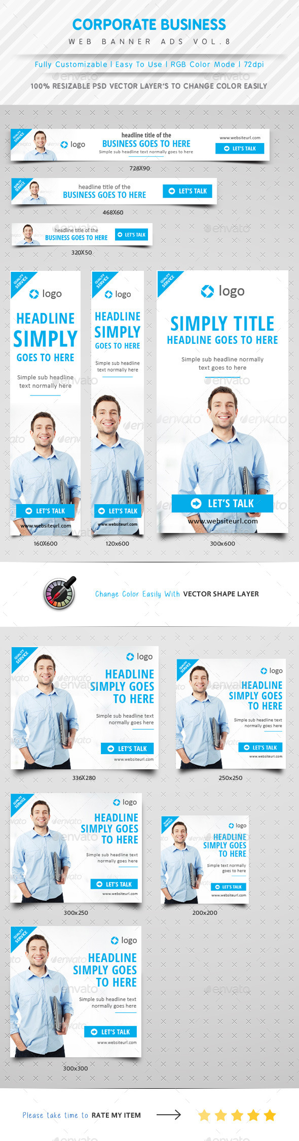 GraphicRiver Corporate Business Web Ads Vol.8 10681488