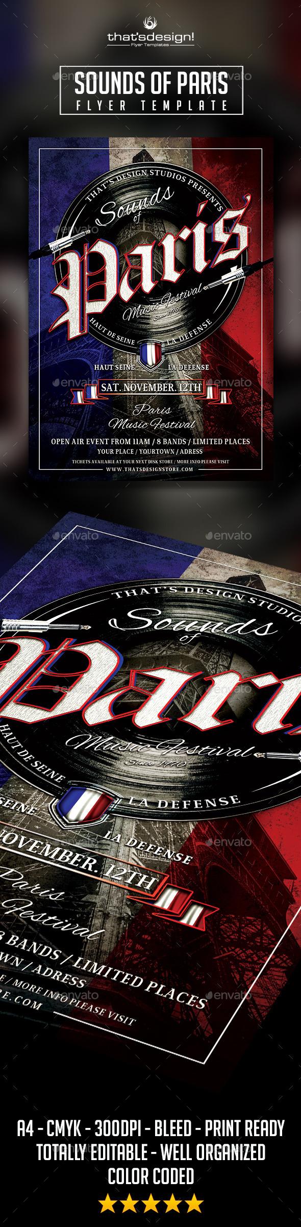 GraphicRiver Sounds of Paris Flyer Template 10681535