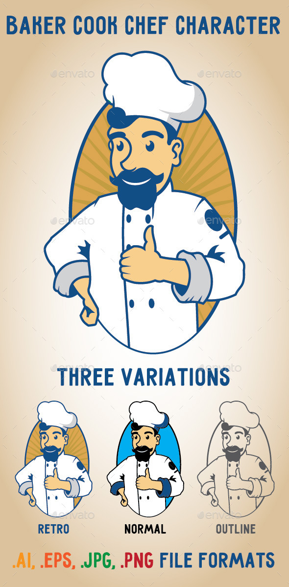 GraphicRiver Baker Cook Chef 10681723