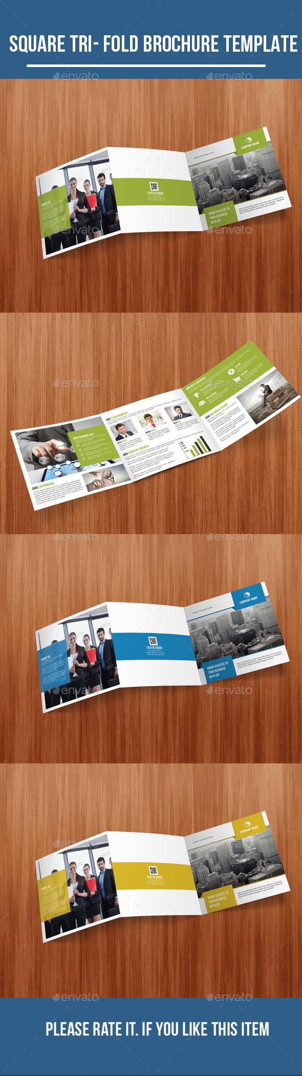 GraphicRiver Square Tri-Fold Business Brochure 10681733