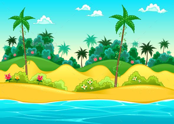 GraphicRiver Landscape on the Seashore 10682170