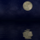 Full Moon And Clouds Over Water Animation - VideoHive Item for Sale
