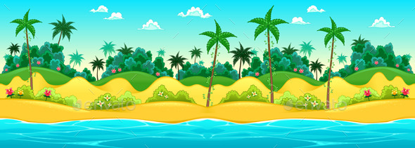 GraphicRiver Landscape on the Seashore 10682411