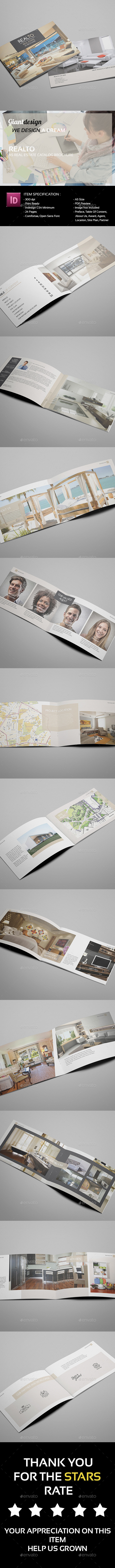 GraphicRiver Realto A5 Real Estate Catalog Brochure 10682433