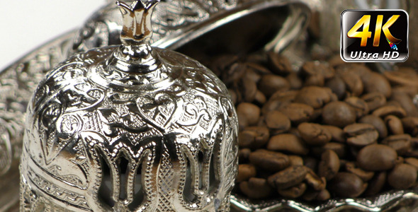 Roasted Coffee and Antique Anatolian Pot 2